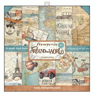 Zestaw Papieru 12x12': Around the World