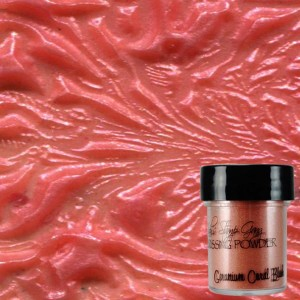 Dwutonowy puder do embossingu Geranium Coral Blush