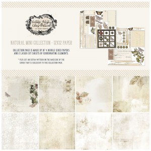 Vintage Artistry Natural: 12x12' Paper Collection