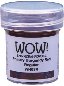 [WH08R] Puder do embossingu: Primary Burgundy Red