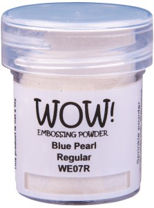 [WE07R] Puder do embossingu: Blue Pearl