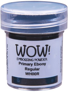 [WH00R] Puder do embossingu: Primary Ebony