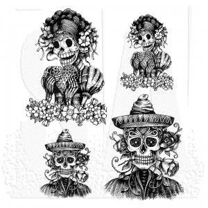 [CMS277] Tim Holtz Cling Mount Stamps Day of the Dead #1