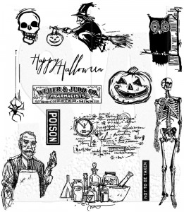 [CMS198] Tim Holtz Cling Mount Stamps Mini Halloween #4