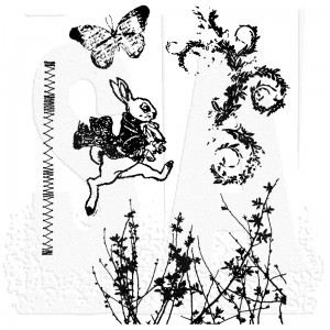 [CMS084] Tim Holtz Cling Mount Stamps Spring Sprung