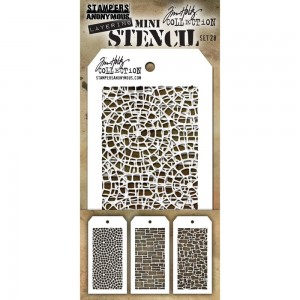 [MTS 28] Tim Holtz Mini Stencil Set 28