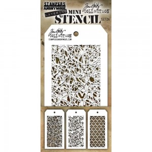 [MTS 24] Tim Holtz Mini Stencil Set 24