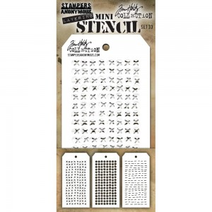 [MTS 33] Tim Holtz Mini Stencil Set 33