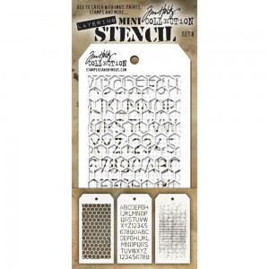 [MTS 08] Tim Holtz Mini Stencil Set 8