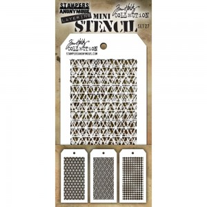 [MTS 27] Tim Holtz Mini Stencil Set 27