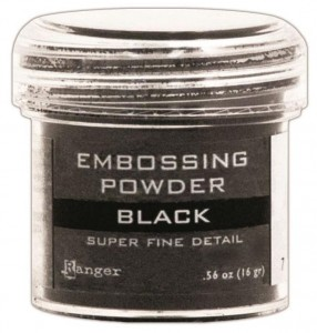 Puder do embossingu Super Fine Black