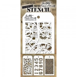 [MTS 02] Tim Holtz Mini Stencil Set 2