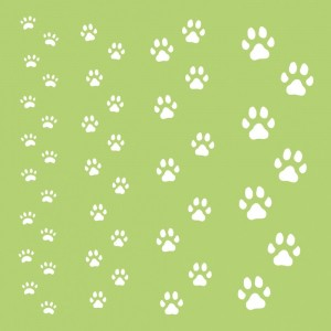 [IT436] Pawfect: Maska 6x6' Paw Prints