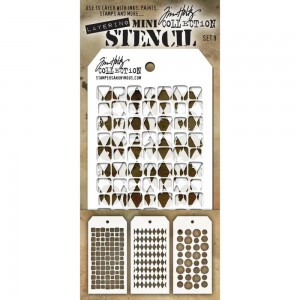 [MTS 09] Tim Holtz Mini Stencil Set 9