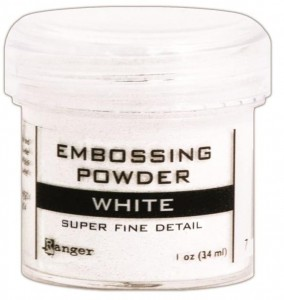 Puder do embossingu Super Fine White