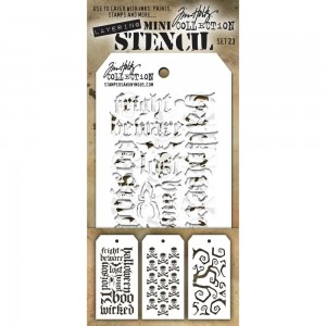 [MTS 23] Tim Holtz Mini Stencil Set 23