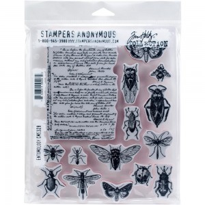[CMS328] Tim Holtz Cling Mount Stamps Entomology