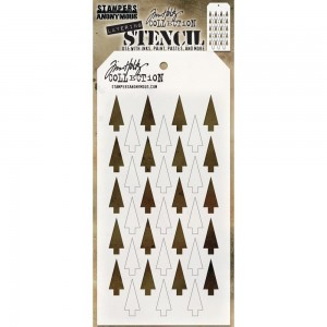 [THS113] Tim Holtz Stencil Shifter Tree
