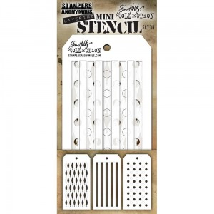 [MTS 36] Tim Holtz Mini Stencil Set 36