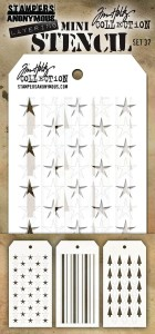 [MTS 37] Tim Holtz Mini Stencil Set 37