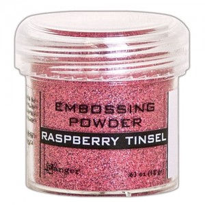 Puder do embossingu Raspberry Tinsel