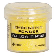 Puder do embossingu Yellow Tinsel