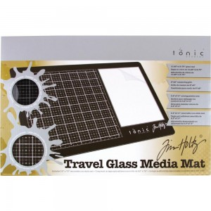 [2633E] Idea-Ology Szklana Mata Travel Glass Media Mat