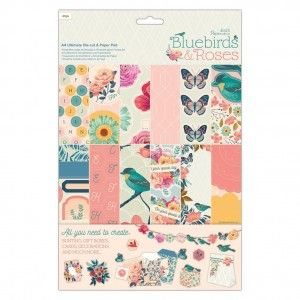 [PMA160432] Bluebirds & Roses: Ultimate Die-Cut & Paper Pack A4