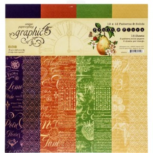Fruit & Flora: 12x12' Solid Designs Paper Pad