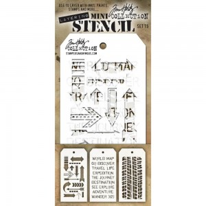 [MTS 15] Tim Holtz Mini Stencil Set 15