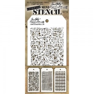 [MTS 14] Tim Holtz Mini Stencil Set 14