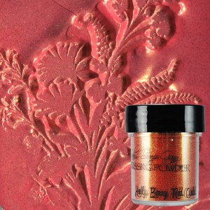 Dwutonowy puder do embossingu Holly Berry Red Gold