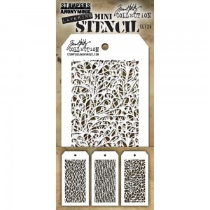 [MTS 26] Tim Holtz Mini Stencil Set 26