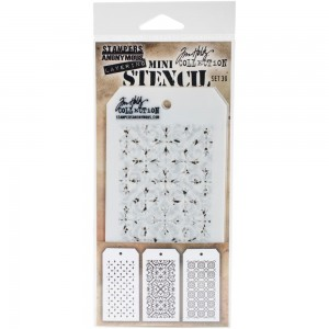 [MTS 30] Tim Holtz Mini Stencil Set 30