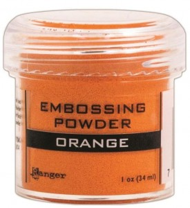Puder do embossingu Orange