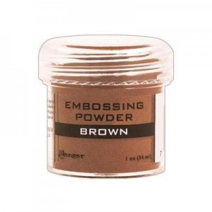 Puder do embossingu Brown