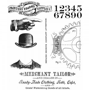 [CMS267] Tim Holtz Cling Mount Stamps Dapper