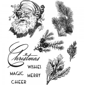 [CMS322] Tim Holtz Cling Mount Stamps Christmas Classic