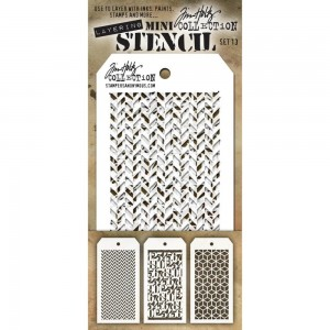 [MTS 13] Tim Holtz Mini Stencil Set 13