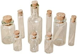 [TH92899] Idea-Ology: Corked Glass Vials