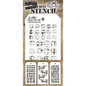 [MTS 29] Tim Holtz Mini Stencil Set 29