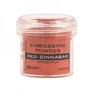 Puder do embossingu Red Cinnabar