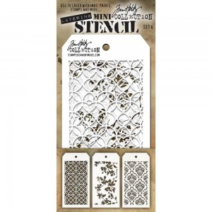 [MTS 04] Tim Holtz Mini Stencil Set 4