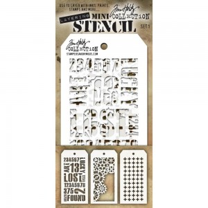 [MTS 01] Tim Holtz Mini Stencil Set 1