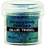 Puder do embossingu Blue Tinsel