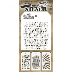[MTS 05] Tim Holtz Mini Stencil Set 5