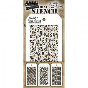 [MTS 35] Tim Holtz Mini Stencil Set 35