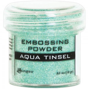 Puder do embossingu Aqua Tinsel